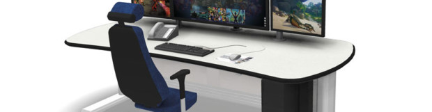 See the height adjustable edit desk in action